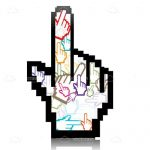 Abstract Mouse Cursor Pointing Hand Design